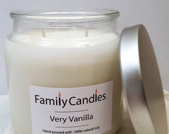Family Candles - Very Vanilla 16 oz Double Wicked Soy Candle