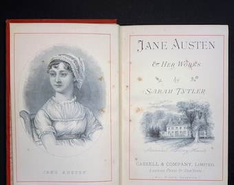c. 1880's JANE AUSTEN & Her Works by Sarah Tytler, Pride Prejudice, Sense Sensibility, Mansfield Park, Emma, Northanger Abbey, Persuasion