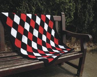 Harlequin Diamond Crochet Blanket Pattern (***PDF Pattern only***)
