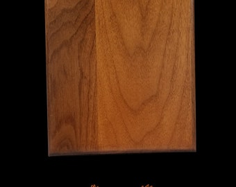 "Walnut Wood Award Wall Plaque 8""x 10"" x .75"" with Roundover Edge - Wagler Awards"