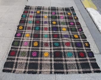 kilim runner rug, small kilim rug, moroccan rug, runner rug, beni ourain rug, home rug, area rug, berber,
