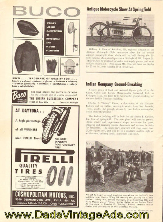 1959 Indian Motorcycle Company Ground-breaking 1-Page Article #5908amot04