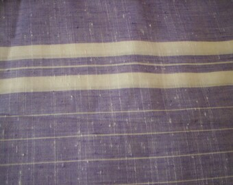 Light Cotton fabric/Lavender  and white striped fabric/Quilt fabric/Sewing fabric/Sheer cotton/Home decor fabric/Sewing supply/craft supply