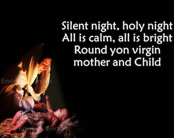Silent Night Church Slides with Lyrics - Traditional Screen Size