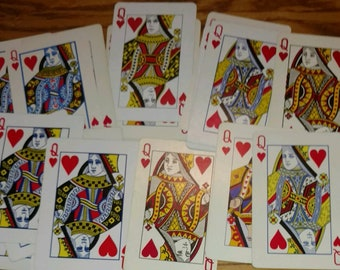 20 Queen of hearts Playing Cards Swap Poker for Crafts Arts Banners Projects