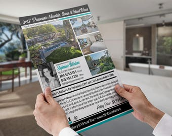 Real Estate Customized and Personalized Flyer | Real Estate Open House and Caravan Flyers | Realtor Printable Flyers | Real Estate Services