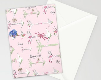 Blank Note Cards, Happiness is a bouquet of Shabby Chic