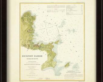 0519-Rockport Harbor Nautical Chart 1902