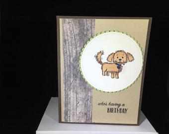 birthday, birthday card, puppy, dogs,brown dogs,