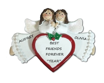 Personalized Ornament Best Friends 2 Angels Personalized Ornament