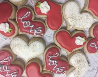 Mini chubby hearts and love cookie set