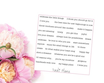 Planner stickers: Tiny sayings #1 | Perfect for your filofax / erin condren planner etc