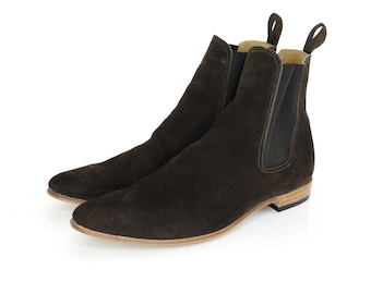 Dark Brown Suede Paul Boots