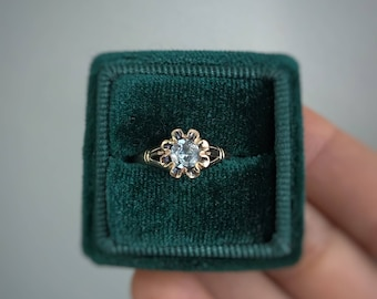 Pale Sapphire Ring | Antique Victorian 10k Gold Mounting
