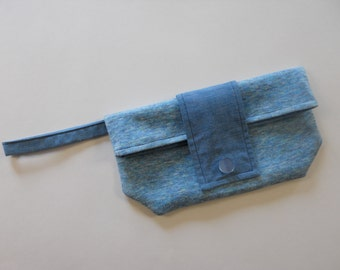Blue Skies Chic Foldover Wristlet Clutch SALE