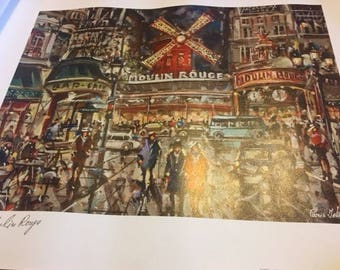 Lovely print - Moulin Rouge Paris ready for framing