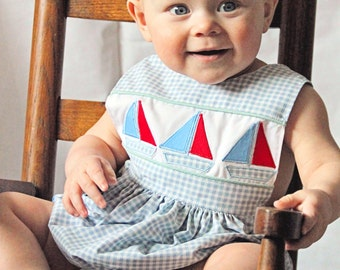 Ruff or Ruffled Romper PDF pattern - Ellie Inspired Baby Romper pattern - Sizes Newborn - 36 months