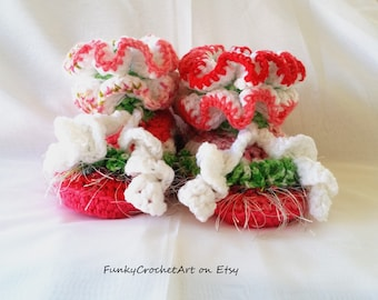 Crochet Slippers Handmade OOAK for Women