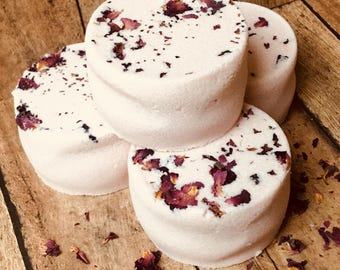 Aromatherapy Shower Steamer Bath Bombs - Gypsy Rose Colored Spa Shower Steamer Gift - Wedding Baby Shower Spa Favors - Natural Beauty