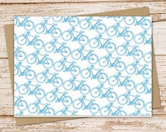 bicycle note cards bike notecards . blank note cards . stationery . bike folded cards stationary . color choices . set of 6