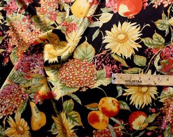 "Tropical Print Silk Fabric 43"" Wide Per Yard"