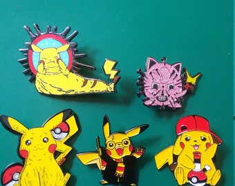 Pokemon GO video gamers Harry Potter dab Hellraizer label pin festival geek nerd