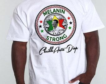 Black History Month T-Shirt African Map Kemetic Malcolm X Black Panther Flag Africa Maat Ankh Hieroglyphics Melanin Kemet Cotton Tee