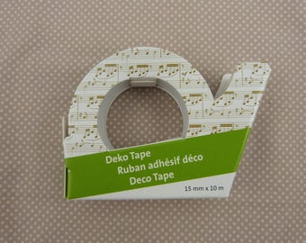Christmas masking tape roll: music note