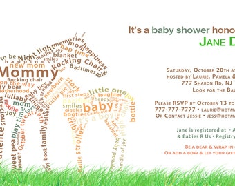 Baby Shower Animal Invite and Thank you Card
