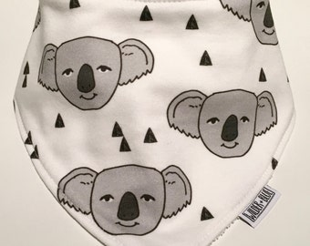 Organic Cotton / Bamboo Dribble Bib, Koala