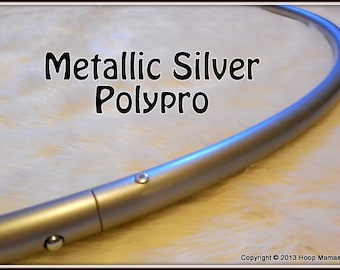 """METALLIC SILVER Polypro - Available in 3/4' and 5/8"""" Thin!  Push-Button Collapsible for Travel & Free Sanding Option."""