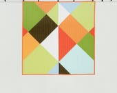 Modern Color Block Quilt - Harlequin - Bright and Bold