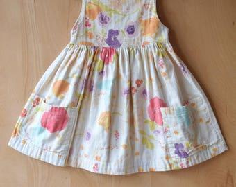 Summer girl dress, dress girl dress Nani Iro, sleeveless dress with pockets