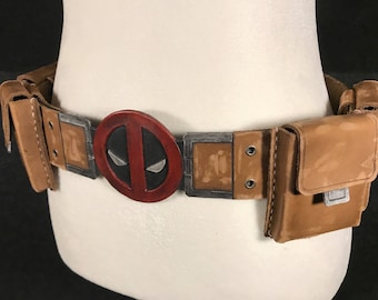 Deadpool Inspired Costume Belt and Pouches (Eyes Version)