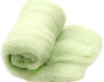 Pastel green needle felting merino wool carded batting newborn photo prop baby blanket carded wool batts newborn photo prop posing layer