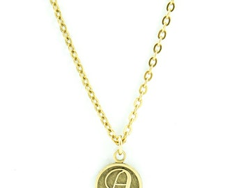 Letter A Necklace | Gold Letter A Necklace | Gold Initial A Necklace | Gold Letter A Pendant Necklace