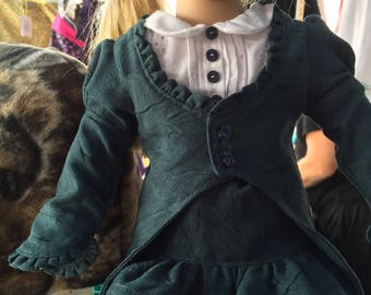 "Victorian Rhapsody Outfit for the American Girl or other 18"" Doll"