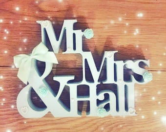 Mr and Mrs or Mr and Mrs sign or wedding gift or wedding sign or mr and mr or Mrs and Mrs or personalised mr and Mrs wooden plaque