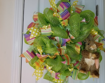 Easter/Spring Lime Green Wreath