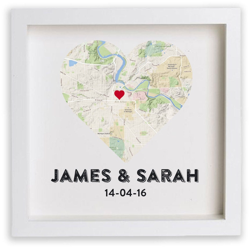 Couples Gift Ideas For Home: FRAMED Wedding Gift For Couple / Housewarming