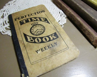 Perfection Weekly Time Book - Wage Book - 1960s