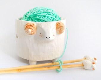 Sonderangebot. Set Schale Keramik Lanero geprägt, RAM und Nadeln mit keramischen Kappen. Massanfertigung