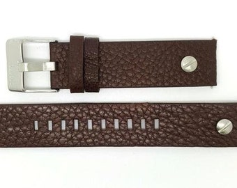 Genuine Leather BROWN Strap Band for Diesel Watches 20 mm. (D-2)
