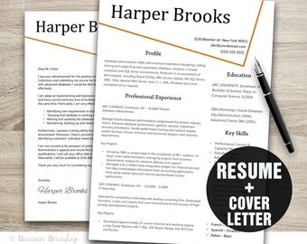 Simple Resume Template Cover Letter Template Instant