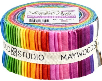 """Shadow Play Jelly Roll (42) 2.5"""" strips - Maywood Studio - Brights - Finally in Precuts!!"""