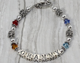 Grandma/Mother Grammy Birthstone Bracelet Special Price!