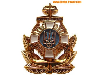 Ukraine Navy insignia Officer hat badge 6