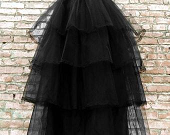 Vampire Beauty, gothic/steampunk maxi tulle skirt