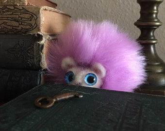 Cute felted wool pygmy puffs! Multiple color choices. Perfect Potterhead gift. Handmade + unique design. Needle felted plush plushie