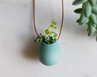 Wearable Planter No. 1, in Teal